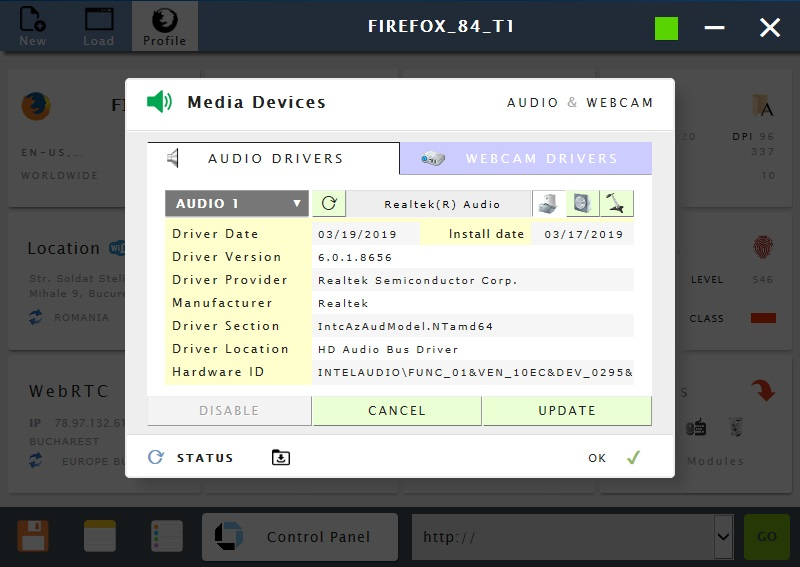 Manage media settings